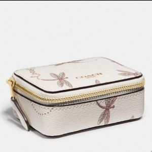 NWT | Coach Triple Pill Box With Dragonfly Print